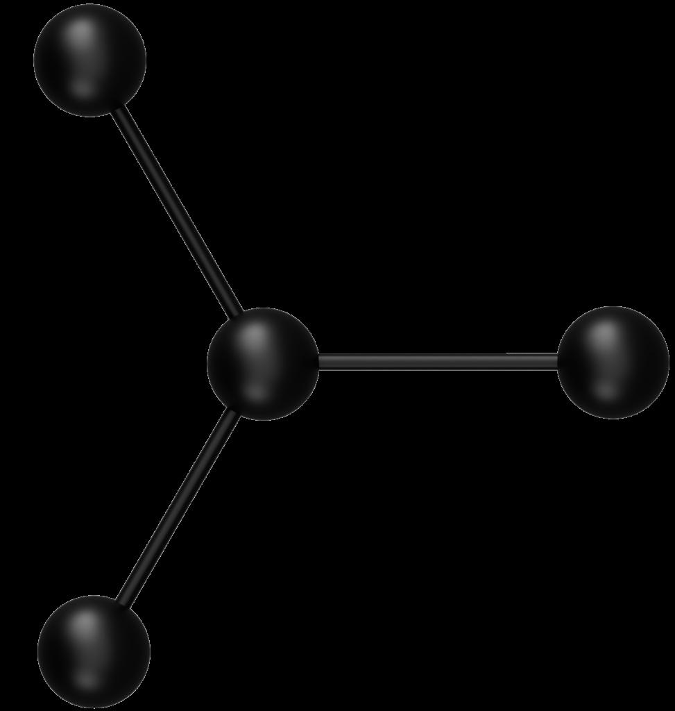 Trägheitsmoment eines nichtlinearen vieratomigen Moleküls